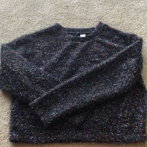 Crop multi colored long sleeve shirt